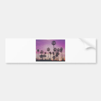 Tropical Palm Trees Miami Los Angeles Venice Bumper Sticker