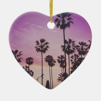 Tropical Palm Trees Miami Los Angeles Venice Ceramic Ornament