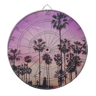 Tropical Palm Trees Miami Los Angeles Venice Dartboard