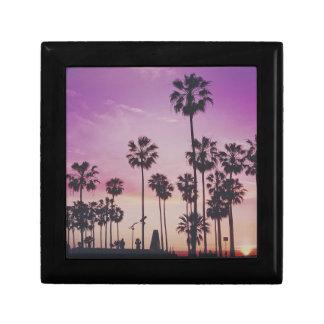 Tropical Palm Trees Miami Los Angeles Venice Gift Box