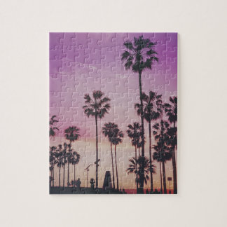 Tropical Palm Trees Miami Los Angeles Venice Jigsaw Puzzle
