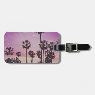 Tropical Palm Trees Miami Los Angeles Venice Luggage Tag