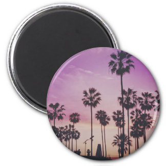 Tropical Palm Trees Miami Los Angeles Venice Magnet