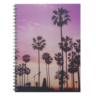 Tropical Palm Trees Miami Los Angeles Venice Notebook