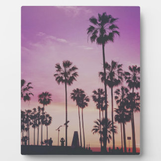 Tropical Palm Trees Miami Los Angeles Venice Plaque
