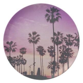 Tropical Palm Trees Miami Los Angeles Venice Plate