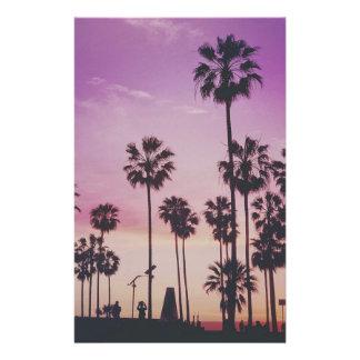 Tropical Palm Trees Miami Los Angeles Venice Stationery