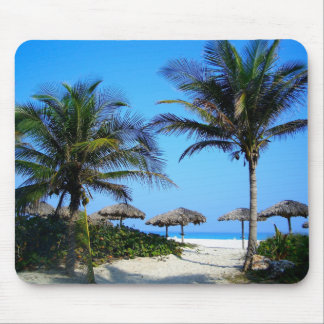 Tropical Palm Trees Ocean Beach Paradise Mousepad