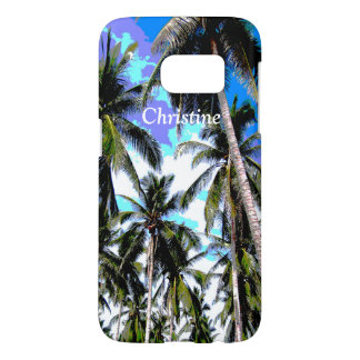 Tropical Palm Trees Personalised Samsung Galaxy S7 Case