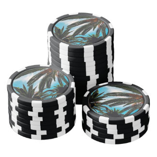 Tropical Palm Trees Poker Chips