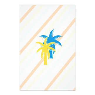 tropical palm trees stationery paper
