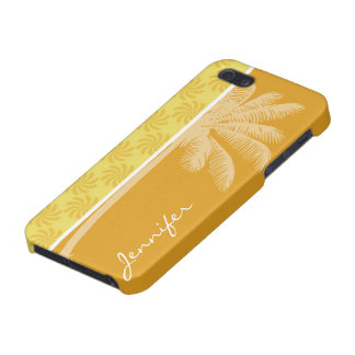 Tropical Palm Yellow Orange Swirl Cases For iPhone 5