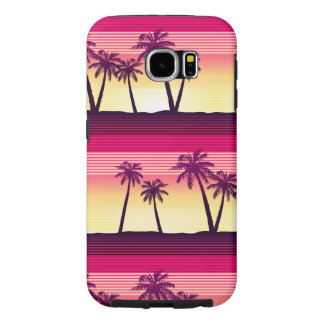 Tropical palms at sunset samsung galaxy s6 cases