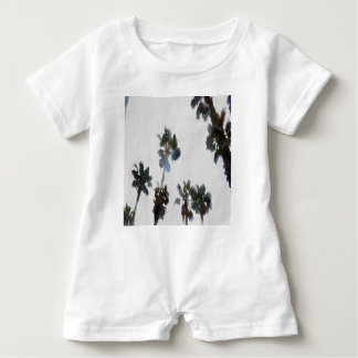 Tropical Palms Baby Romper