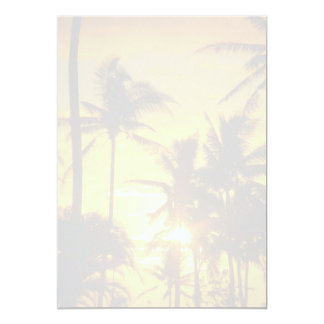 "Tropical Palms Blank Printable Wedding Paper 5"" X 7"" Invitation Card"