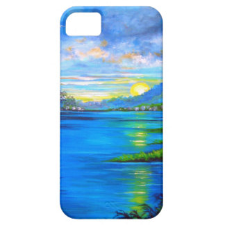 Tropical Palms Blue iPhone 5 Cover