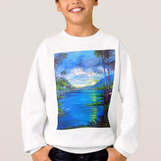 Tropical Palms Blue Sweatshirt