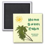 Tropical Palms Cabin Door Marker