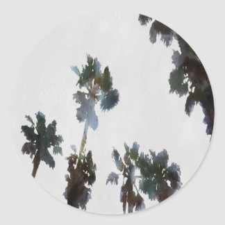 Tropical Palms Classic Round Sticker
