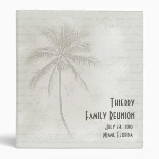 Tropical Palms Family Reunion Vinyl Binder