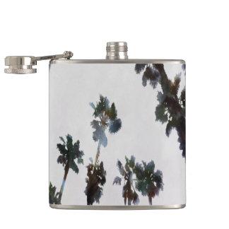 Tropical Palms Hip Flask