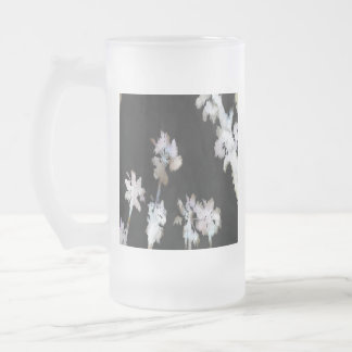 Tropical Palms Negative Frosted Glass Beer Mug