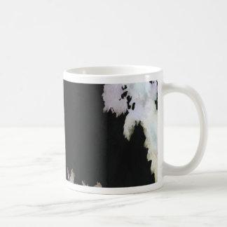 Tropical Palms On Black Background Coffee Mug