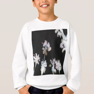Tropical Palms On Black Background Sweatshirt