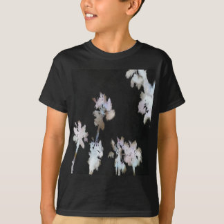 Tropical Palms On Black Background T-Shirt