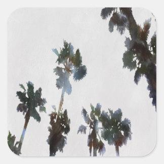 Tropical Palms Square Sticker