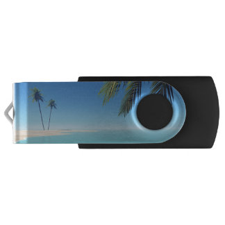 Tropical Palms Swivel USB 3.0 Flash Drive