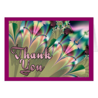 Tropical Palms Thank You Card