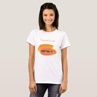 Tropical Papaya  Basic Tee Shirt Woman