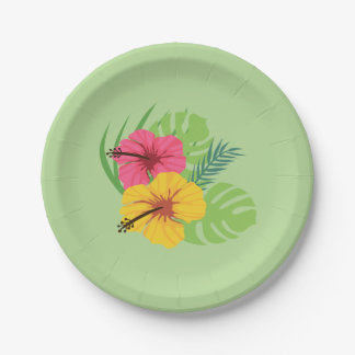 Tropical Paper Plate