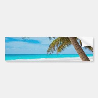 Tropical Paradise Beach Bumper Sticker