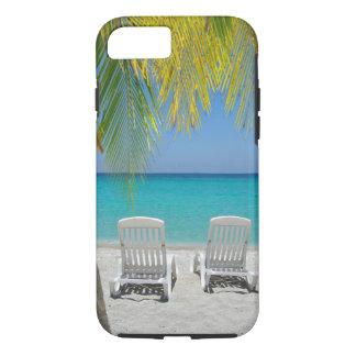 Tropical paradise beach in the Caribbean Case-Mate iPhone Case