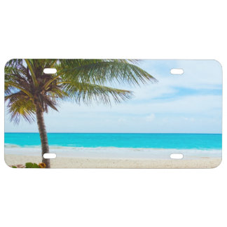 Tropical Paradise Beach License Plate