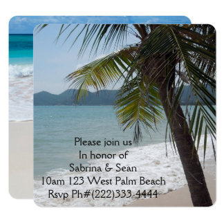 Tropical Paradise Beach Palm Destiny Destiny'S Card