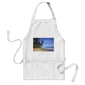 Tropical Paradise Beach Scene Apron