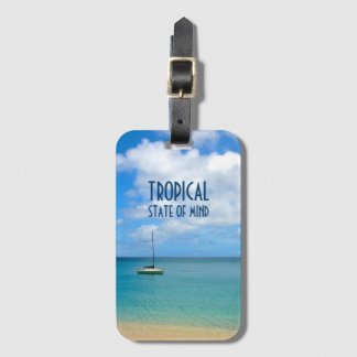 Tropical Paradise Beach & Yacht Luggage Tag
