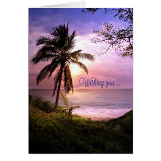 Tropical Paradise Birthday Card