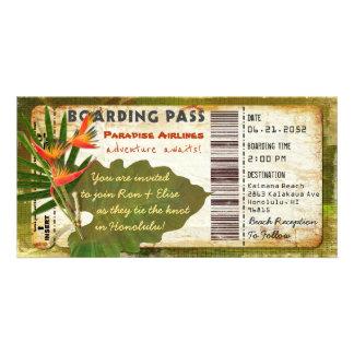 Tropical Paradise Boarding Pass Invitation