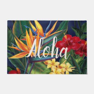 Tropical Paradise Hawaiian Floral Aloha Doormat