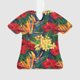 Tropical Paradise Hawaiian Floral Aloha Shirt Ornament