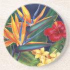 Tropical Paradise Hawaiian Floral Coaster