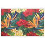Tropical Paradise Hawaiian Floral Fabric