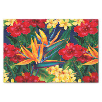 Tropical Paradise Hawaiian Floral Tissue Paper