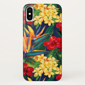 Tropical Paradise Hawaiian Floral Vertical Case-Mate iPhone Case
