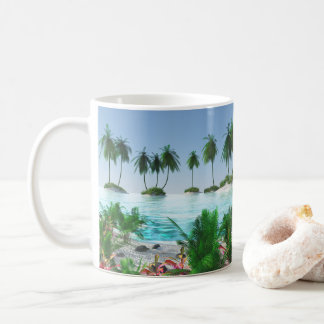 Tropical Paradise Island Coffee Mug