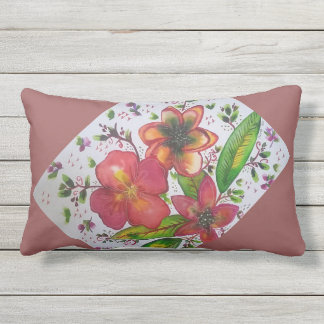 Tropical paradise lumbar pillow